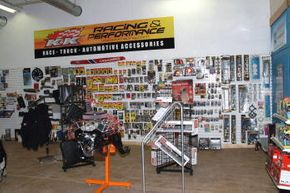 Interior of showroom